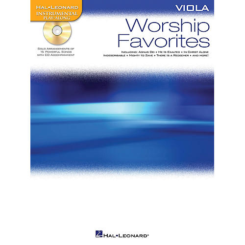 Hal Leonard Worship Favorites (Instrumental Play-Along for Viola) Instrumental Play-Along Series Softcover with CD