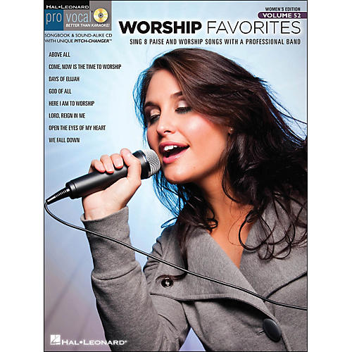 Hal Leonard Worship Favorites Pro Vocal Songbook & CD for Female Singers Volume 52