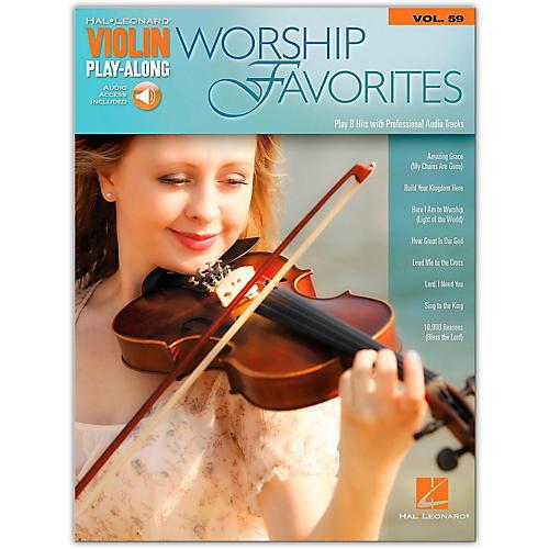 Hal Leonard Worship Favorites Violin Play-Along Volume 59 Book/Online Audio