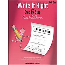Willis Music Write It Right - Book 1