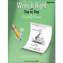 Willis Music Write It Right Book 2