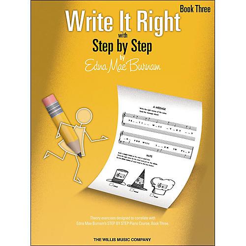 Willis Music Write It Right Book 3