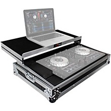 ProX X-MXTSBLT ATA Style Flight Road Case with Sliding Laptop Shelf for Pioneer DDJ-SBII, DDJ-RB  and Numark Mixtrack Pro II DJ Controllers Level 1 Black/Chrome