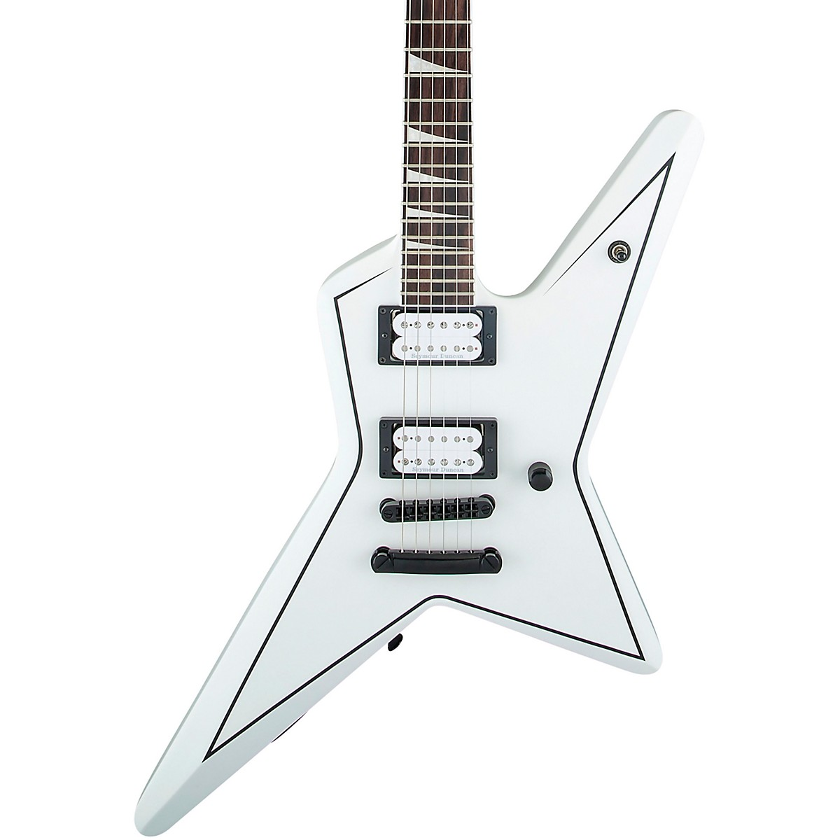 X Series Signature Gus G. Star Electric Guitar Satin White with Black Pinstripes