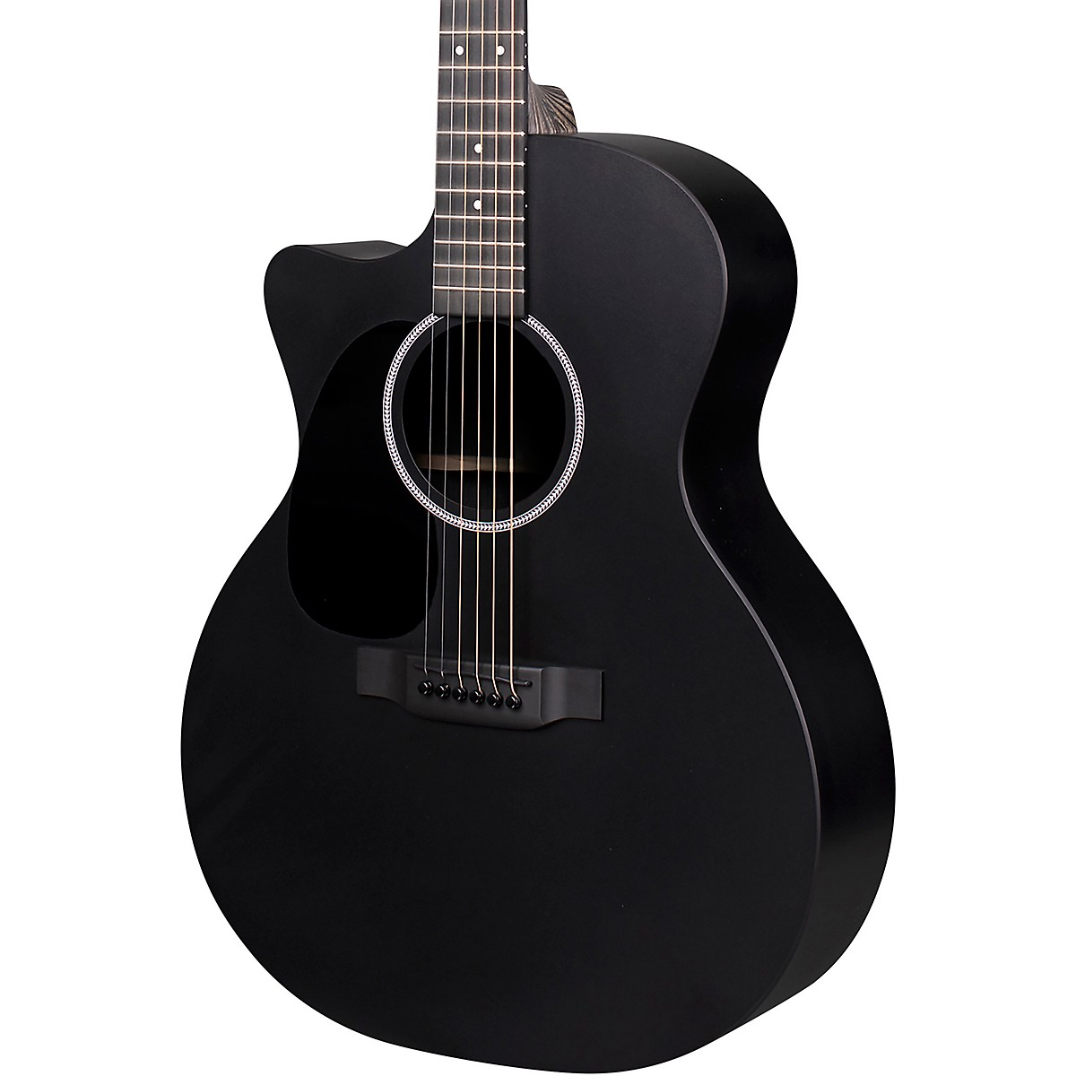 Martin X Series Style Special GPC Black HPL Left-Handed Acoustic-Electric Guitar
