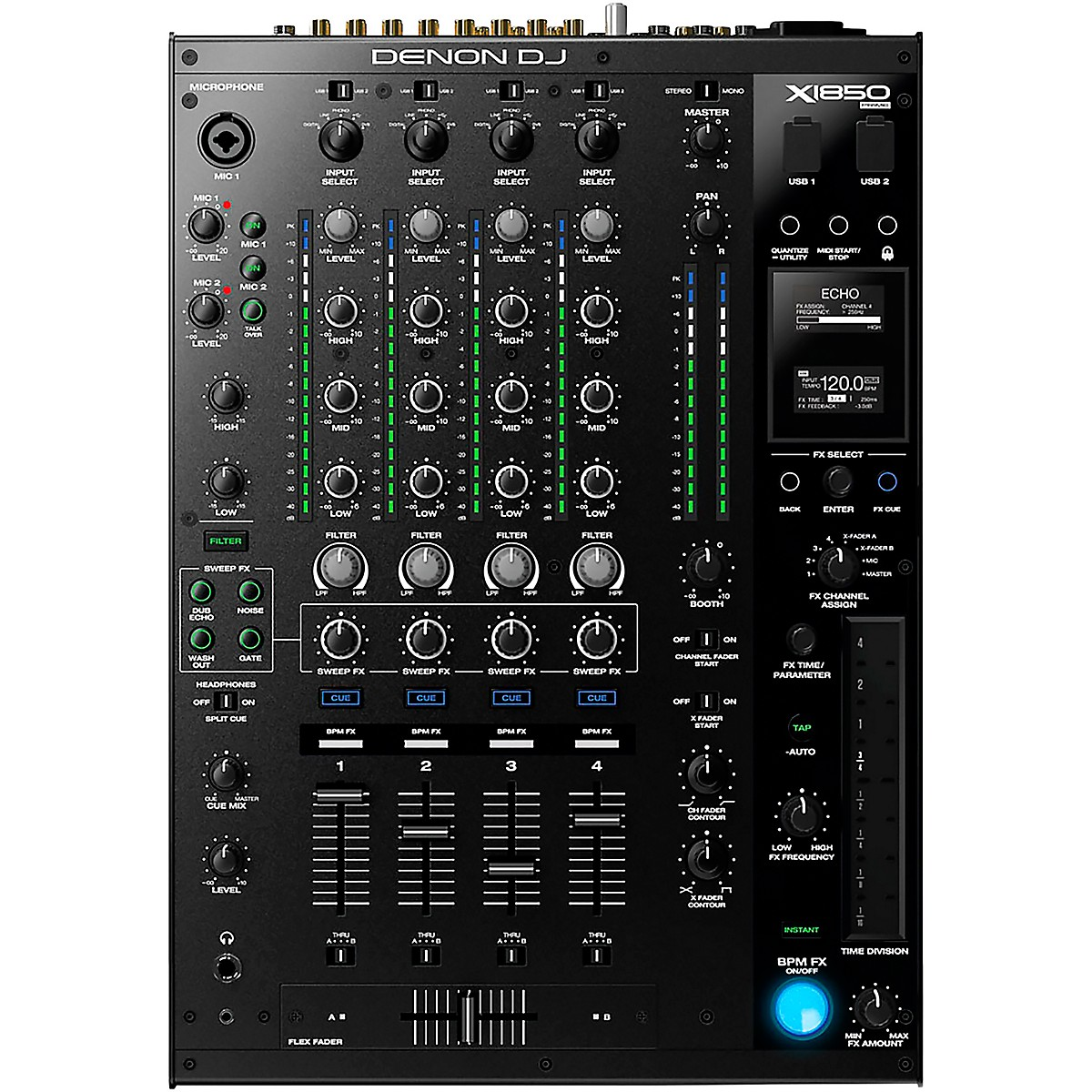 Denon DJ X1850 Prime 4-Channel Club Mixer