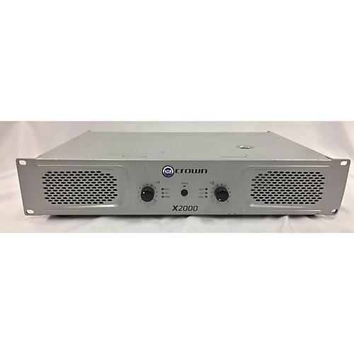 Crown X2000 Power Amp