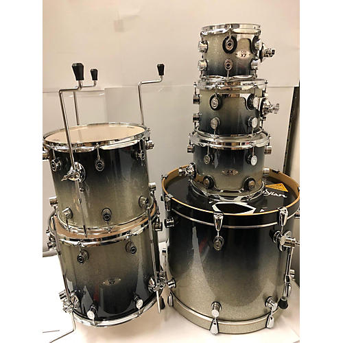 Used Pdp By Dw X7 Drum Kit Silver To Black Sparkle Fade Guitar Center
