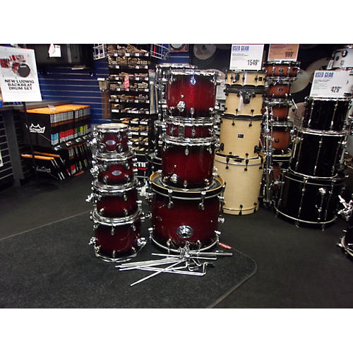 Used Pdp By Dw X7 Drum Kit Red And Black Sparkle Fade Guitar Center