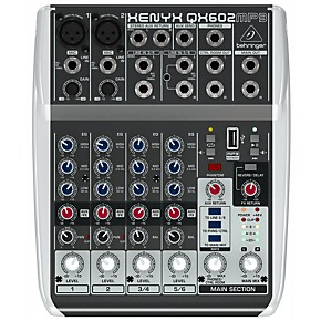 behringer xenyx qx602mp3 6 channel mixer with mp3 player guitar center. Black Bedroom Furniture Sets. Home Design Ideas