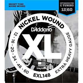 DAddario XL148 Nickel Wound Drop C Tuning Electric Guitar Strings