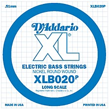 D'Addario XLB020P Electric Bass Nickel Single String