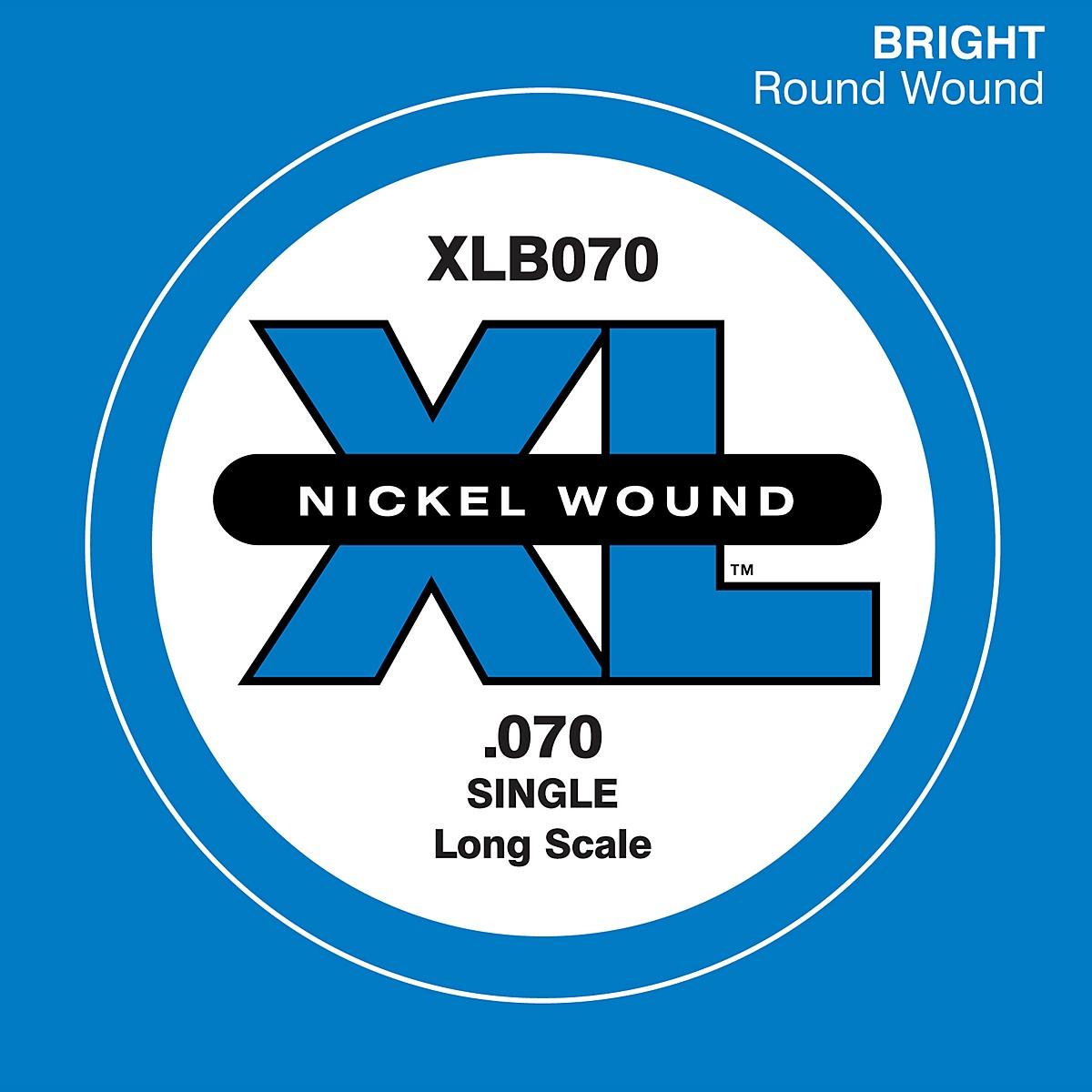 D'Addario XLB070 Bass Nickel Single Strings
