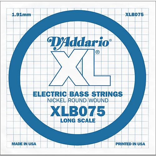 D'Addario XLB075 Extra Long Single Bass String