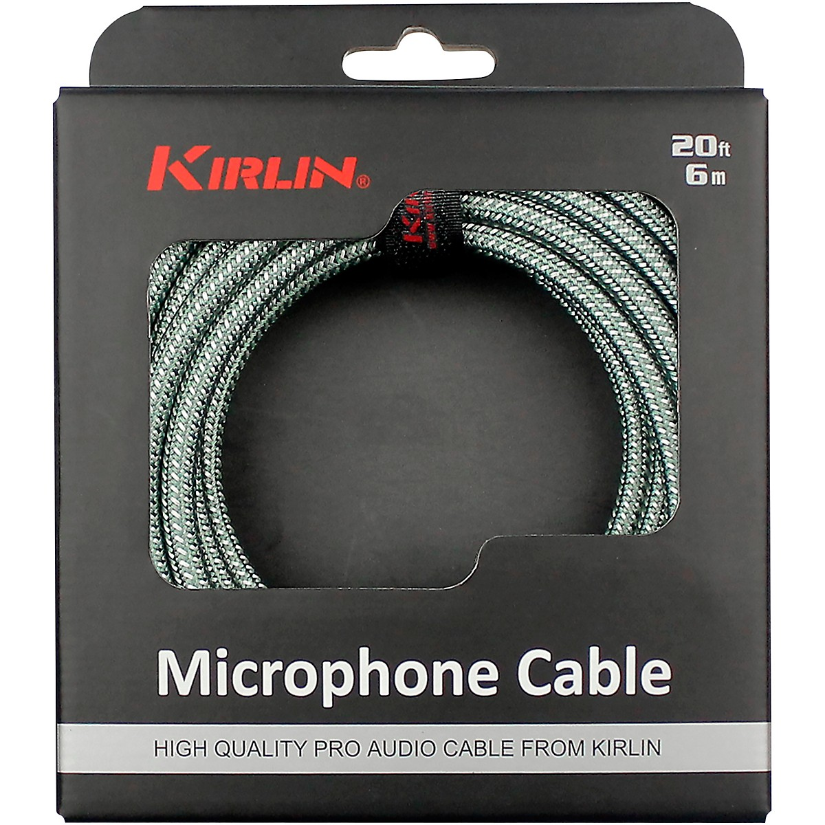 KIRLIN XLR Male To XLR Female Microphone Cable - Olive Green Woven Jacket