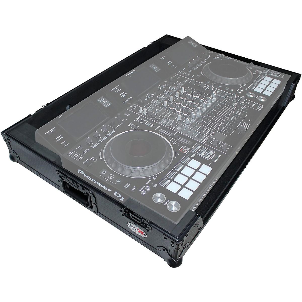 ProX XS-DDJRZXWBL Black ATA Style Flight Road Case for Pioneer DDJ-RZX DJ Controller with Wheels