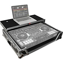 ProX XS-DJ808WLTBL Black ATA Style Flight Road Case with Wheels for Roland DJ-808 and Denon MC7000 Level 1 Black/Chrome