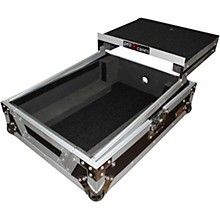XS-M12LT ATA Style Flight Road Case with Wheels and Sliding Laptop Shelf for 12 in. DJ Mixers Level 1 Black/Chrome
