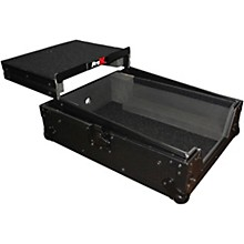 XS-M12LT ATA Style Flight Road Case with Wheels and Sliding Laptop Shelf for 12 in. DJ Mixers Level 1 Black