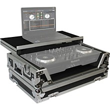 ProX XS-MIXDECKWLT ATA Style Flight Road Case with Sliding Laptop Shelf and Wheels for Numark MixDeck Quad DJ Controller Level 1 Black/Chrome