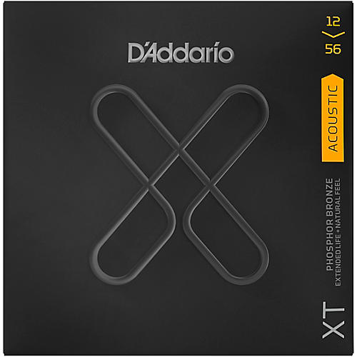 D'Addario XT Acoustic Phosphor Bronze Strings, Light Top/Medium Bottom, 12-56