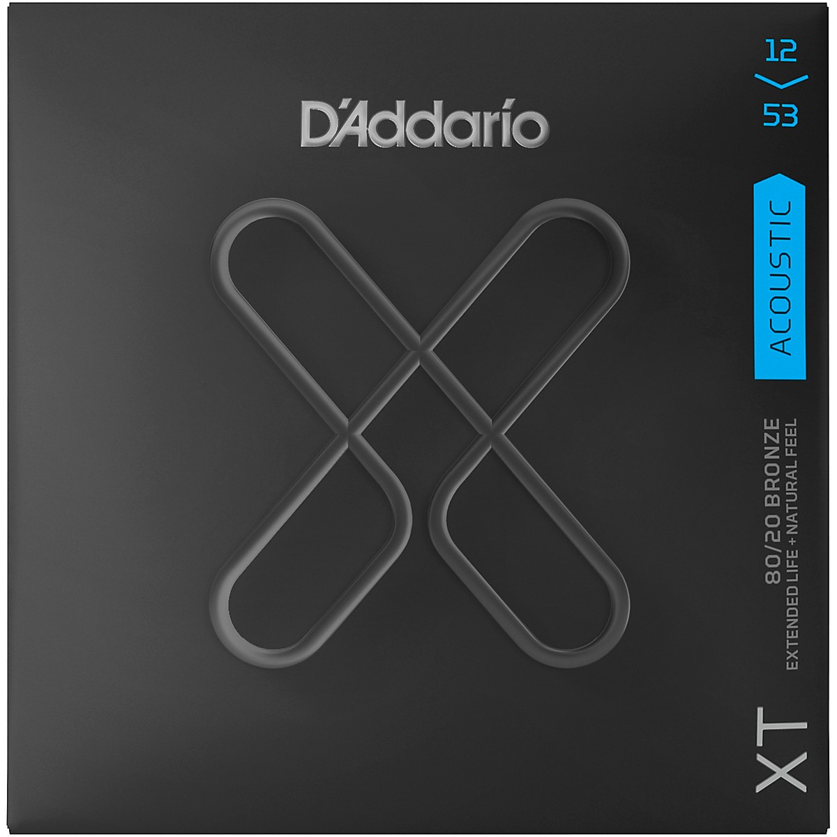 D'Addario XT Acoustic Strings, Light, 12-53