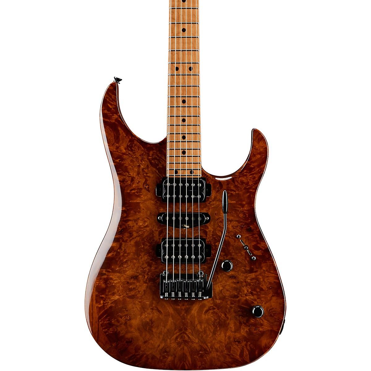 LsL Instruments XT4-DX 24 Fret Exotic HSH Roasted Burl Maple Top Electric Guitar