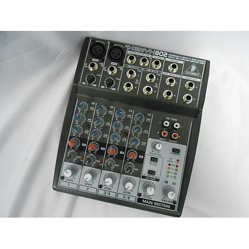 used behringer xenyx 802 unpowered mixer guitar center. Black Bedroom Furniture Sets. Home Design Ideas