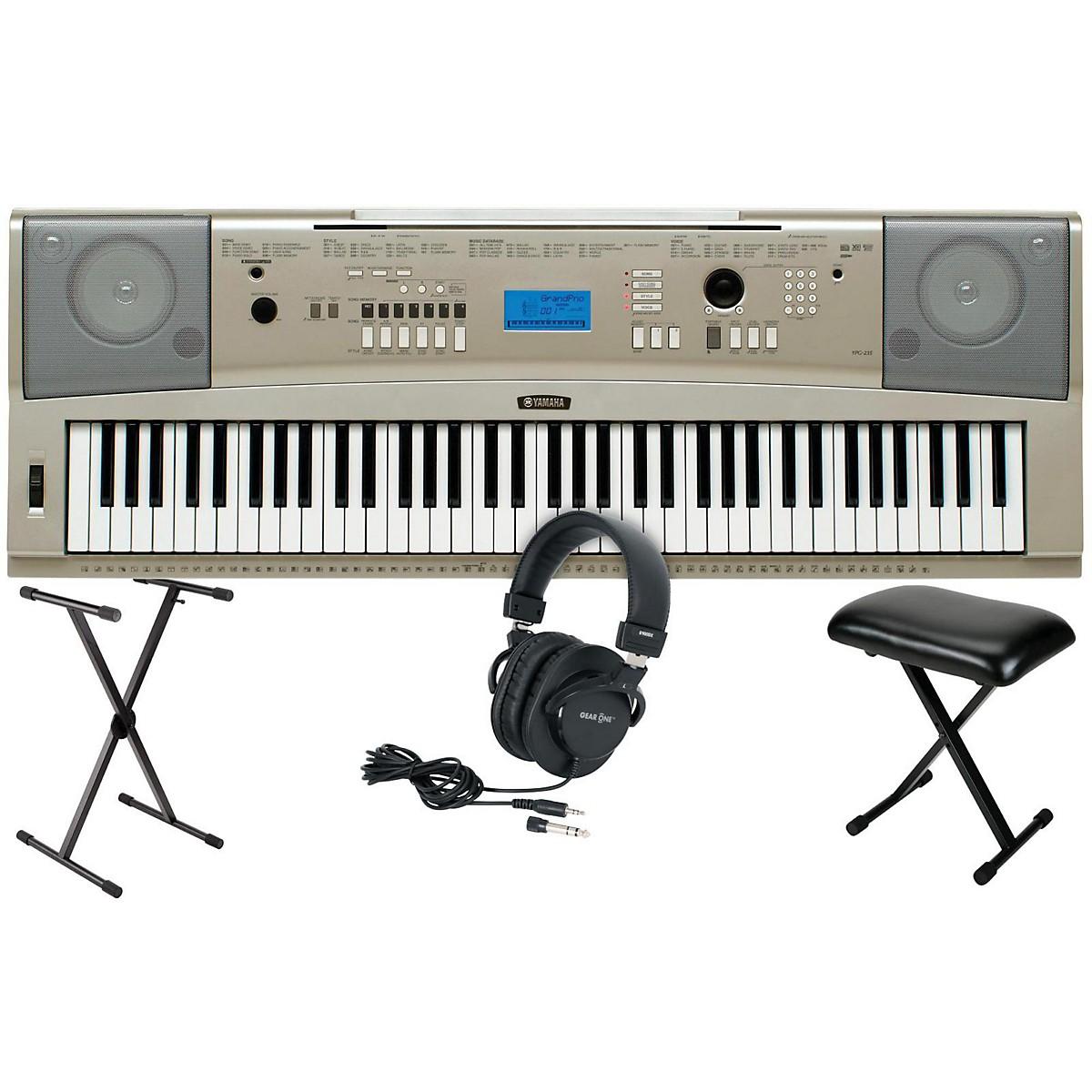 Yamaha YPG-235 76-Key Portable Grand Piano Keyboardwith Stand, Bench & Headphones
