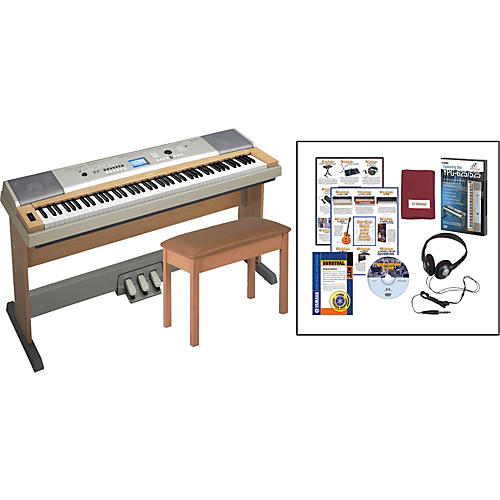 yamaha ypg635 with bench pedal unit and survival kit guitar center. Black Bedroom Furniture Sets. Home Design Ideas