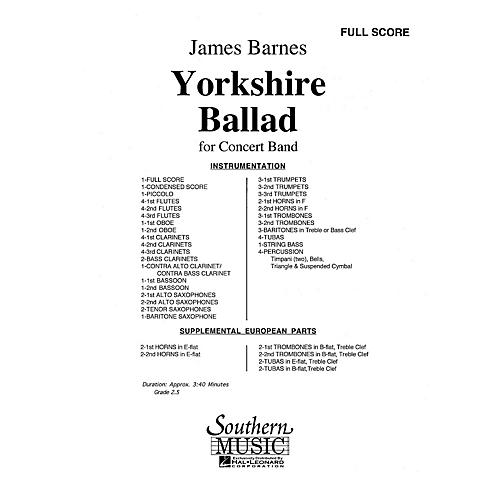 Southern Yorkshire Ballad (UIL 2) Concert Band Level 2 Composed by James Barnes