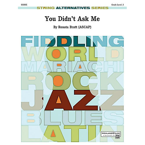 Alfred You Didn't Ask Me String Orchestra Grade 3 Set