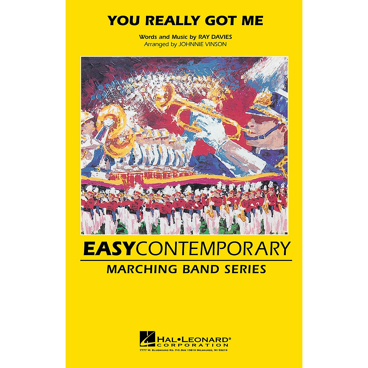 Hal Leonard You Really Got Me Marching Band Level 2-3 by The Kinks Arranged by Johnnie Vinson