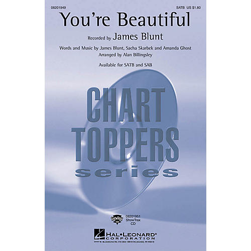 Hal Leonard You're Beautiful SATB by James Blunt arranged by Alan Billingsley