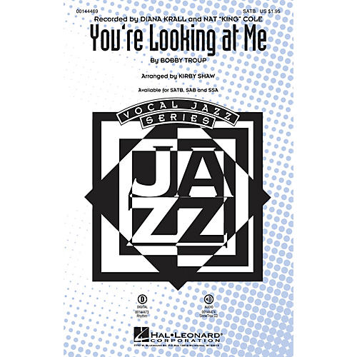 Hal Leonard You're Looking At Me SAB by Diana Krall Arranged by Kirby Shaw