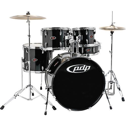 pdp by dw z5 5 piece drum set carbon black guitar center. Black Bedroom Furniture Sets. Home Design Ideas