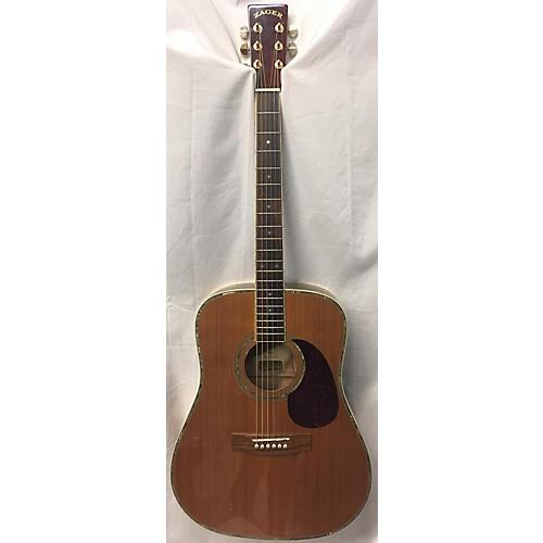 used zager zad 80 acoustic guitar vintage natural guitar center. Black Bedroom Furniture Sets. Home Design Ideas