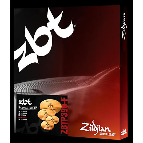 Zildjian ZBT P390-F Cymbal Pack with Free 14