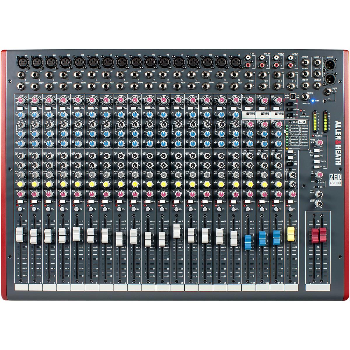 Allen & Heath ZED-22FX USB Mixer with Effects