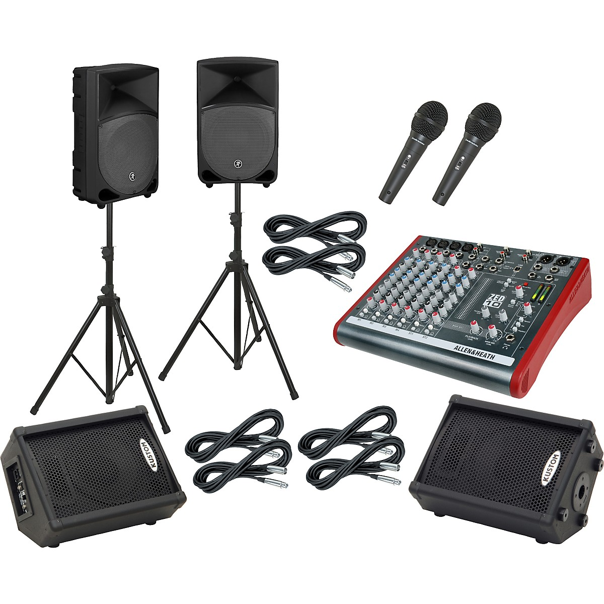 Allen & Heath ZED10 / Thump TH-12A Mains and Monitors Package