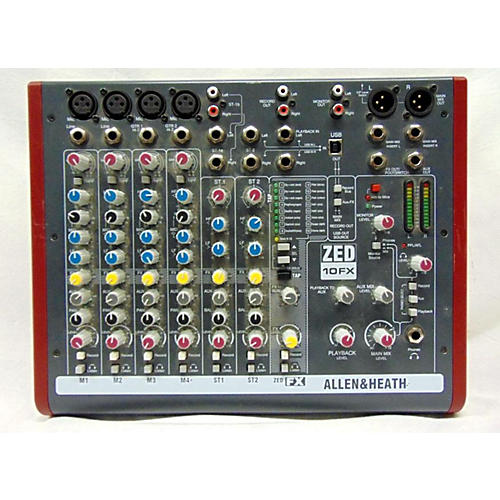 used allen heath zed10fx unpowered mixer guitar center. Black Bedroom Furniture Sets. Home Design Ideas