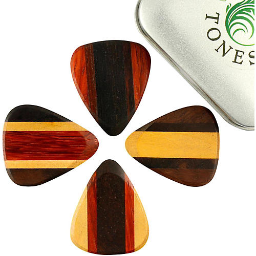 Timber Tones Zone Tones Mixed Tin of 4 Guitar Picks