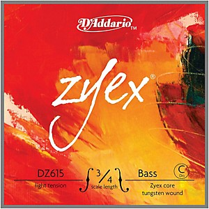 Daddario Zyex Series Double Bass Low C Extended E String by D'Addario