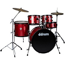 d2 Player 5-Piece with Hardware and Cymbals Red Sparkle