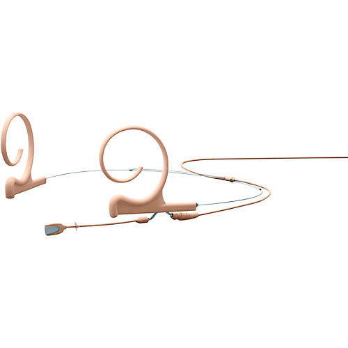 DPA Microphones d:fine FIO Slim Omnidirectional Headset Microphone, Dual ear, 40mm boom, Microdot connector, Beige