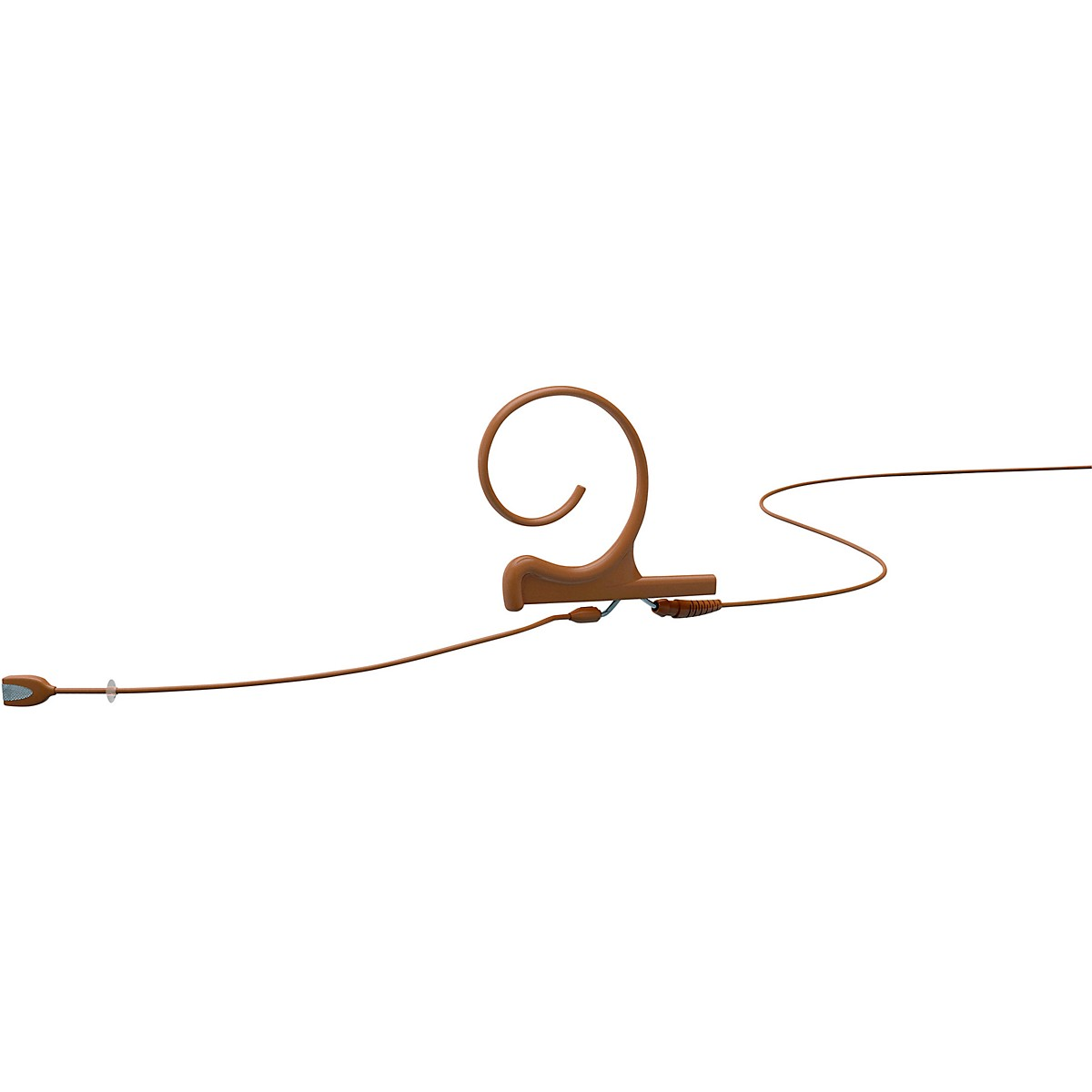 DPA Microphones d:fine FIO Slim Omnidirectional Headset Microphone, Single ear, 90mm boom, Microdot connector, Brown