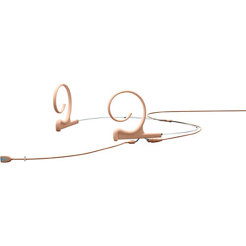 DPA Microphones d:fine Flex Directional Slim Headset Microphone Dual Ear, 100mm Boom, Hardwired 3.5mm Mini Jack, Beige