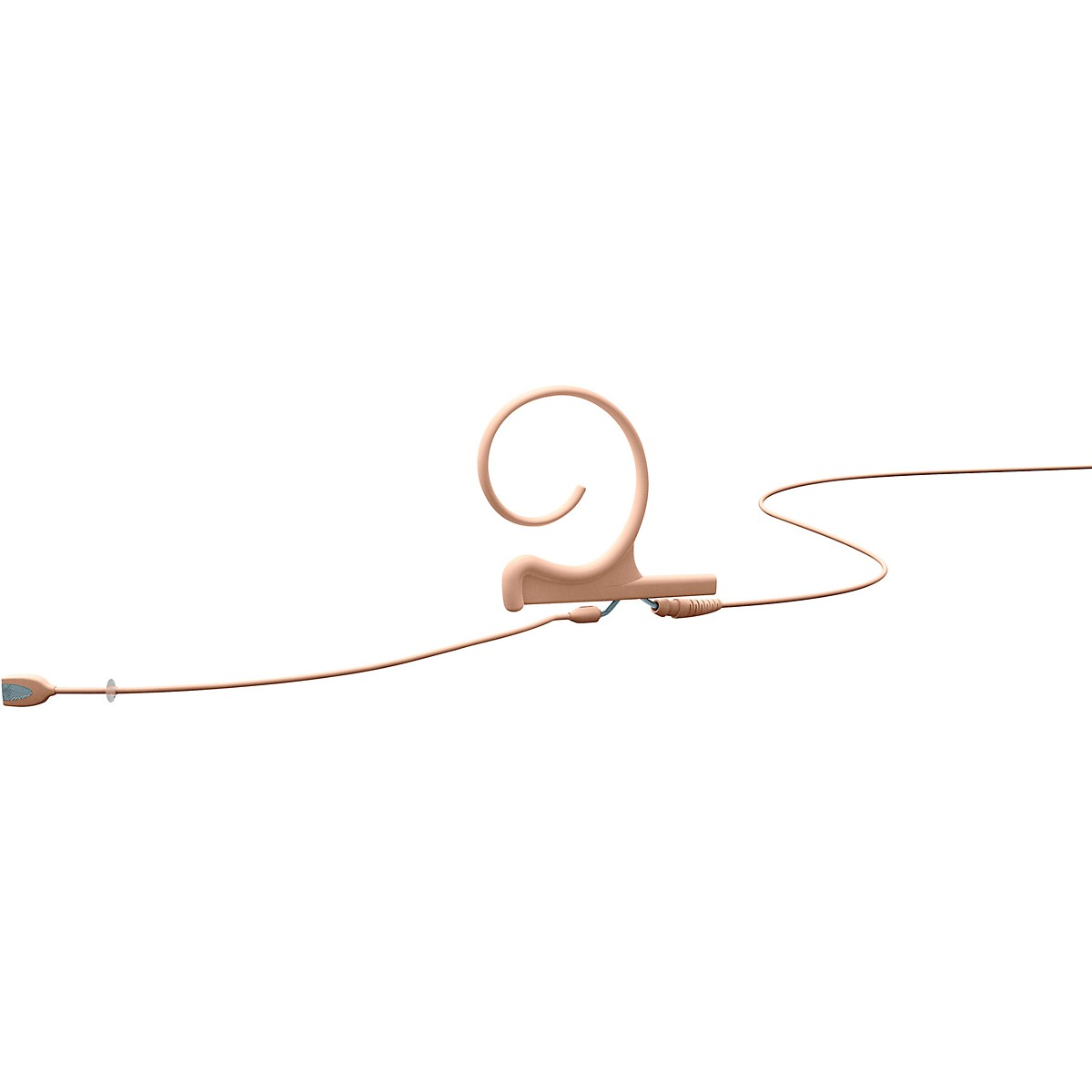 DPA Microphones d:fine Flex Directional Slim Headset Microphone Single Ear, 100mm Boom, Hardwired 3.5mm Mini Jack, Beige