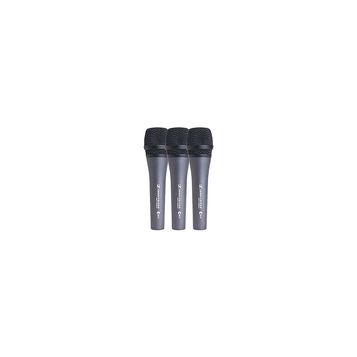 Sennheiser e 835 Cardioid Dynamic Vocal Microphone 3-Pack