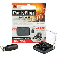 Alpine Hearing Protection (ea) Single-filter Universal Earplugs (Black)